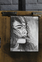 "Load image into Gallery viewer, Dreamer's Eyes - 11""x14"" Original Charcoal Sketch"