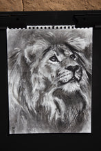 "Load image into Gallery viewer, With Lifted Eyes - 11""x14"" Original Charcoal Sketch"