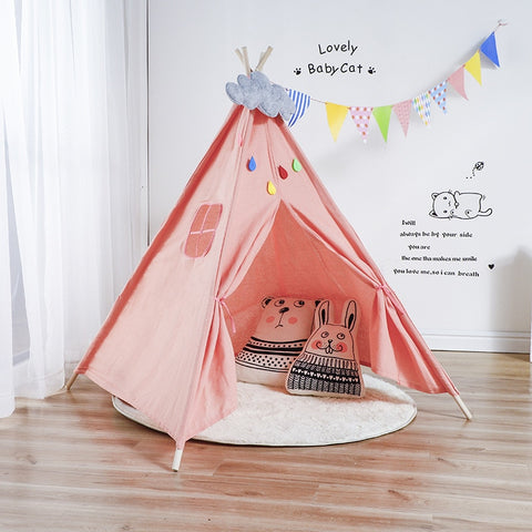 Nordic Style Wooden Support Canvas Teepee Tent