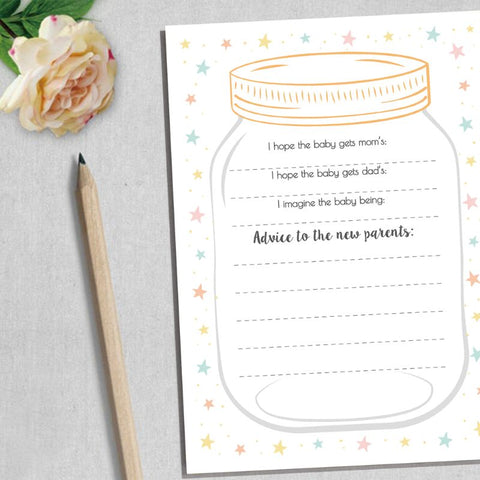 Advice and Prediction Cards for Baby Shower