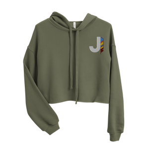 J Feather Crop Hoodie