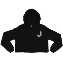 Load image into Gallery viewer, J Feather Crop Hoodie