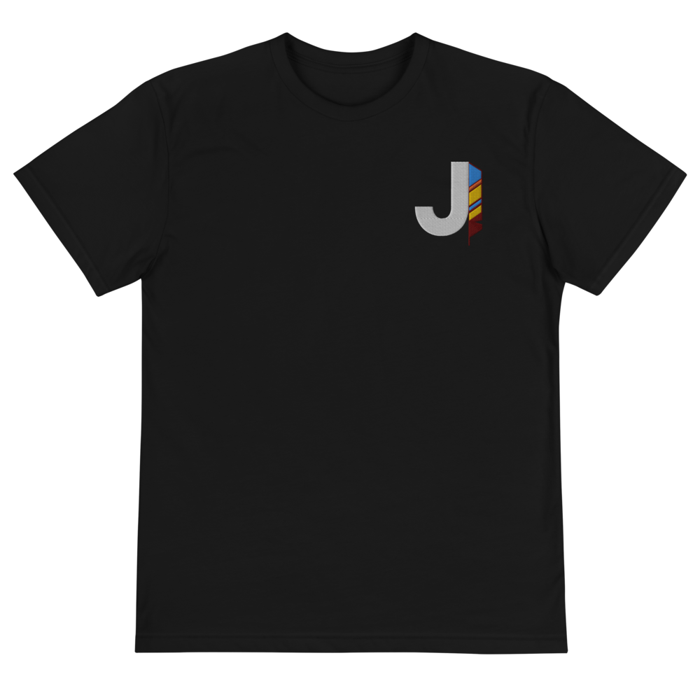 J Feather Embroidered T-Shirt