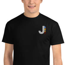 Load image into Gallery viewer, J Feather Embroidered T-Shirt