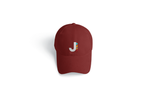 J Feather Dad Hat Maroon
