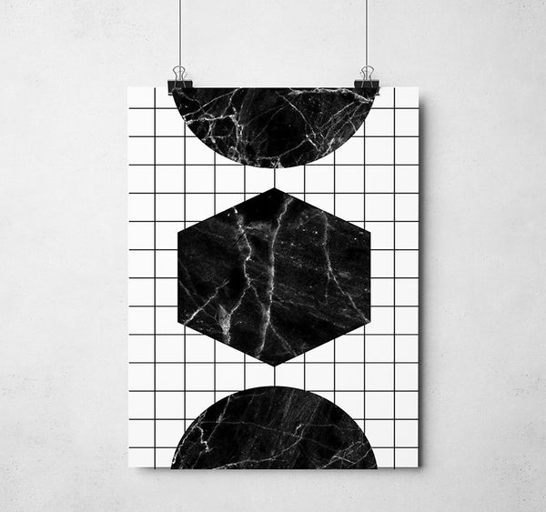 Grid Shapes Print
