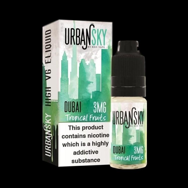 Urban Sky Dubai 10ml High VG (70%) E-Liquid E-Liquid Urban Sky