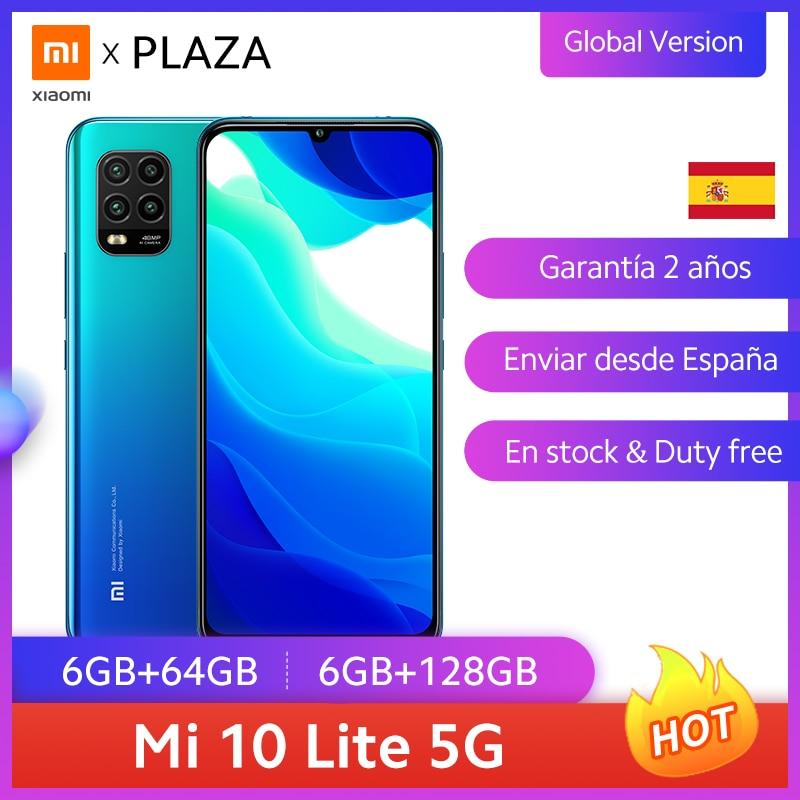 "Versão global xiaomi mi 10 lite 5g smartphone 64 gb 128gb snapdragon 765g nfc 6.57 ""amoled display 48mp câmera 20w fc 4160mah"