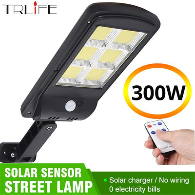 TRLIFE Powerful Remote Control Upgraded COB Solar Light PIR Motion Sensor IP65 Outdoor Solar Wall Street Light Waterproof Lamp - Ebaiashop