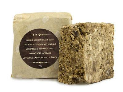 Naissance Raw African Black Soap 90g with Shea Butter