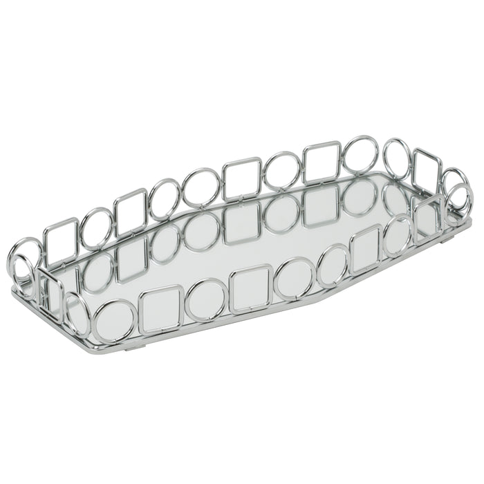Home Details Circles & Squares Vanity Tray - Chrome