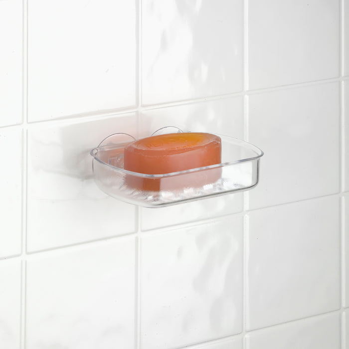 Bath Bliss Suction Mount Soap Dish-Clear