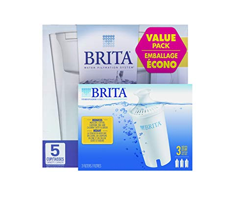 Brita Value Pack Slim Water Pitcher with Filter Plus 3pk. Filters
