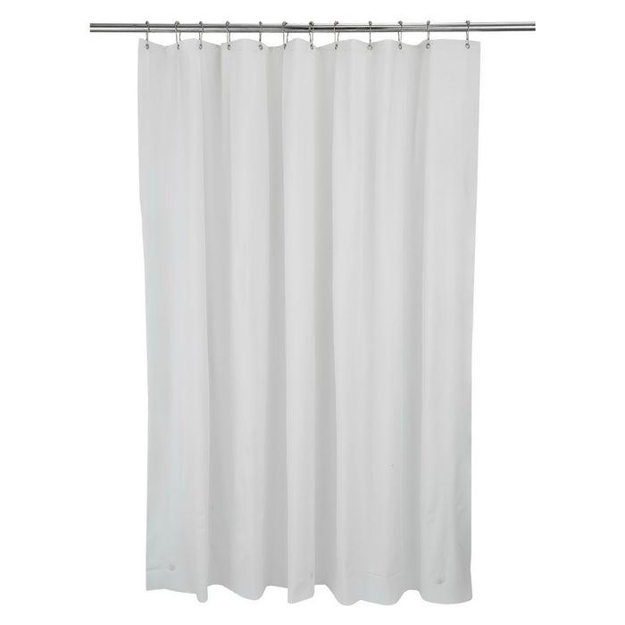 Bath Bliss Premium Shower Curtain Liner-White