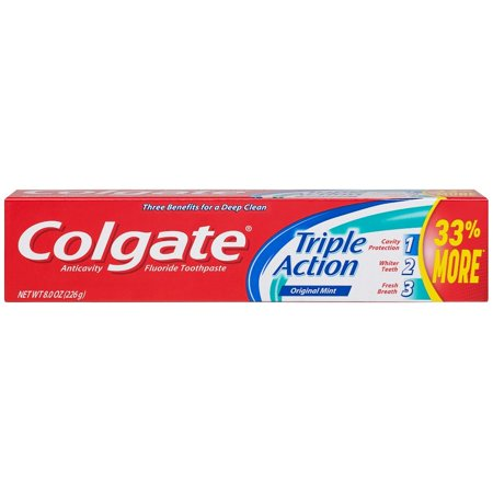 Colgate 8oz Toothpaste Triple Action Mint