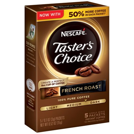 Nescafé Taster's Choice French Roast Instant Coffee - 6 count