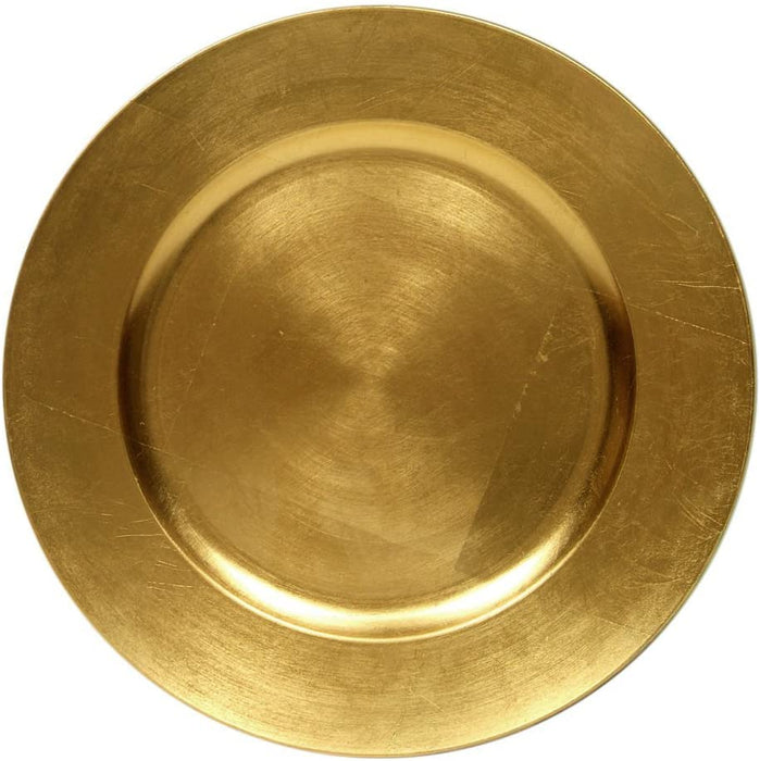 Round Charger Plate - Gold - Solid