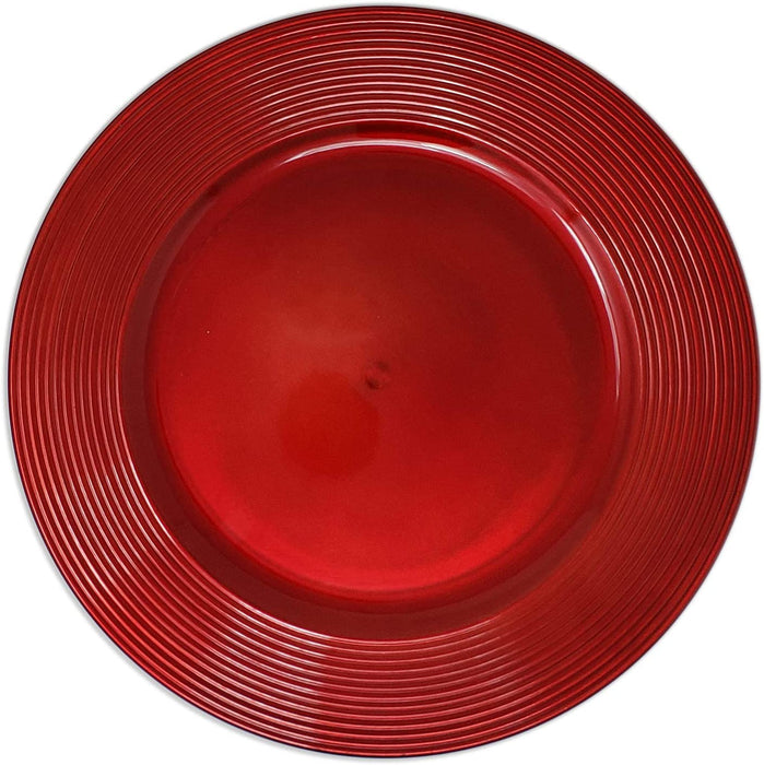 Round Charger Plate with Lines