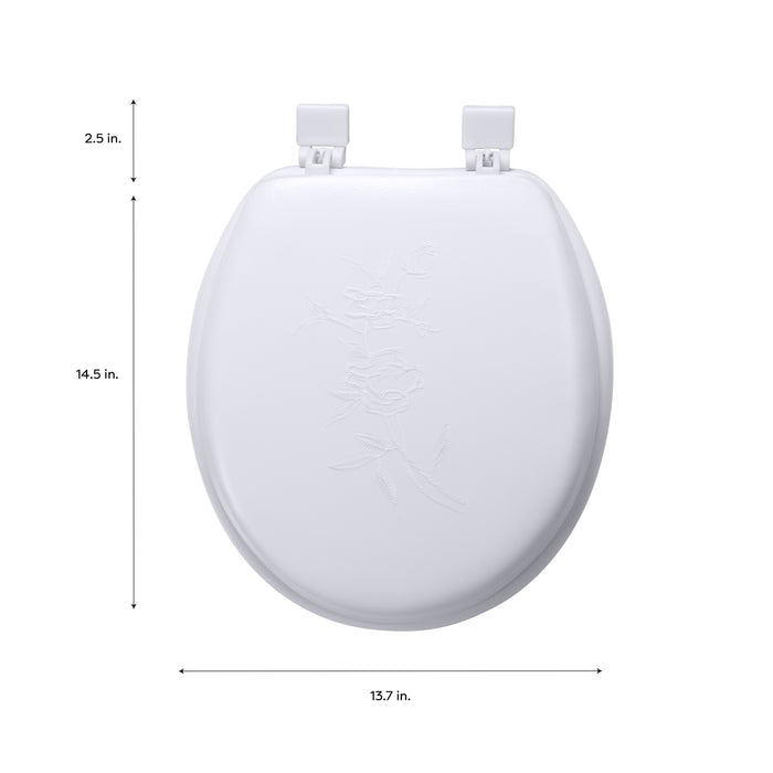 Bath Bliss Extra Soft Standard Toilet Seat-White