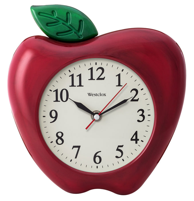 Westclox Apple Shaped Clock - 10""