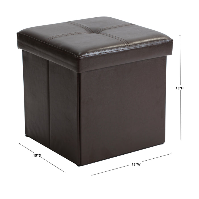 Simplify Single Folding Ottoman-Chocolate
