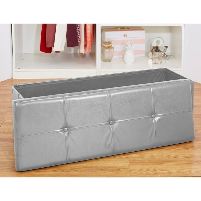Simplify Triple Folding Ottoman-Grey