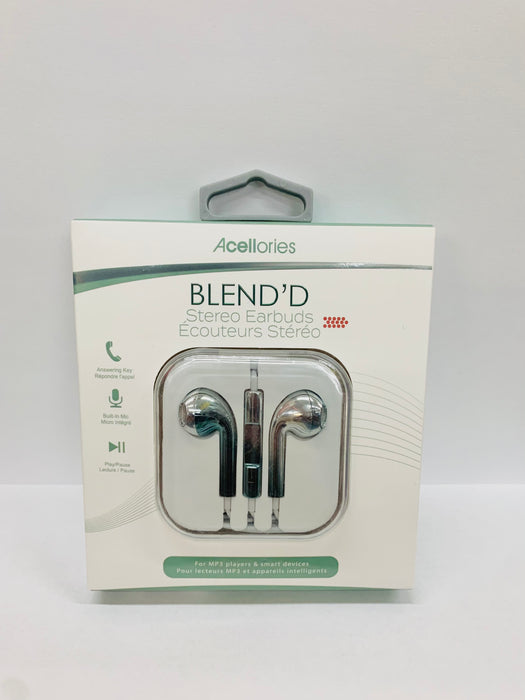 Acellories Blend'd Metallic Wired Earbuds with Microphone