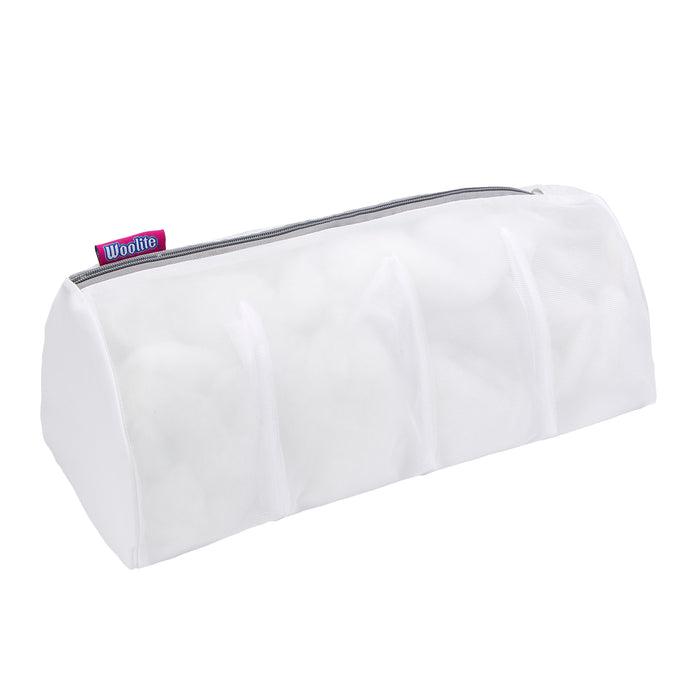 Woolite 4 Compartment Hosiery Wash Bag-White