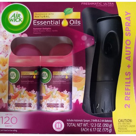 Air Wick Summer Delights Freshmatic Ultra Automatic Air Freshener Spray Plus 2 Refills