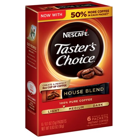 Nescafé Taster's Choice House Blend Instant Coffee - 6 count