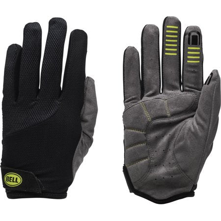 Bell Ramble 650 Full Finger Performance Cycling Gloves - Black/Grey - S/M