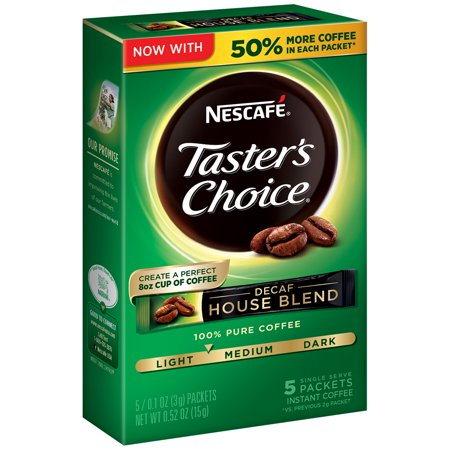Nescafé Taster's Choice House Blend Instant Coffee - Decaf - 6 count