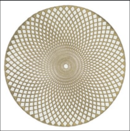 Home Details Circle Placemat - Gold