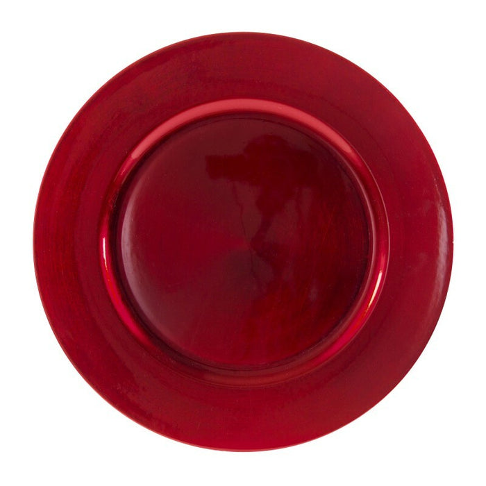 Round Charger Plate - Red - Solid