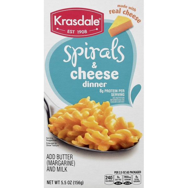 Krasdale Spirals & Cheese Dinner