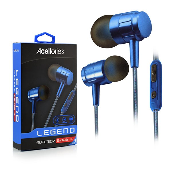 Acellories Legend Wired Earbuds with Microphone