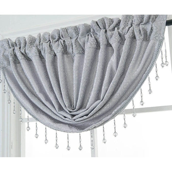 Leah Textured Waterfall Valance
