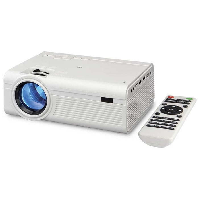 GPX Mini Home Theater Projector in White PJ308W