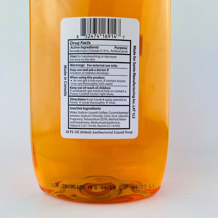 SpaSoap Gold Antibacterial Liquid Soap Refill 32oz.