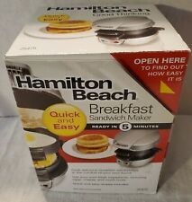 Hamilton Beach  Breakfast Sandwich Maker, Silver/black
