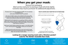Load image into Gallery viewer, The commuter and the learner face mask instructions, page 2