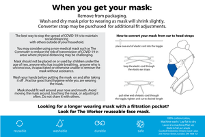 The commuter and the learner face mask instructions, page 2