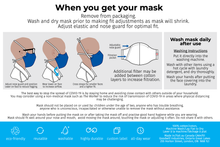 Load image into Gallery viewer, The worker face mask instructions, page 2