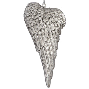 Silver Wing Hanging Ornament