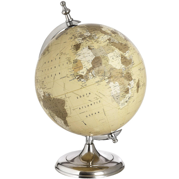 Chrome Desktop Globe | L J Home