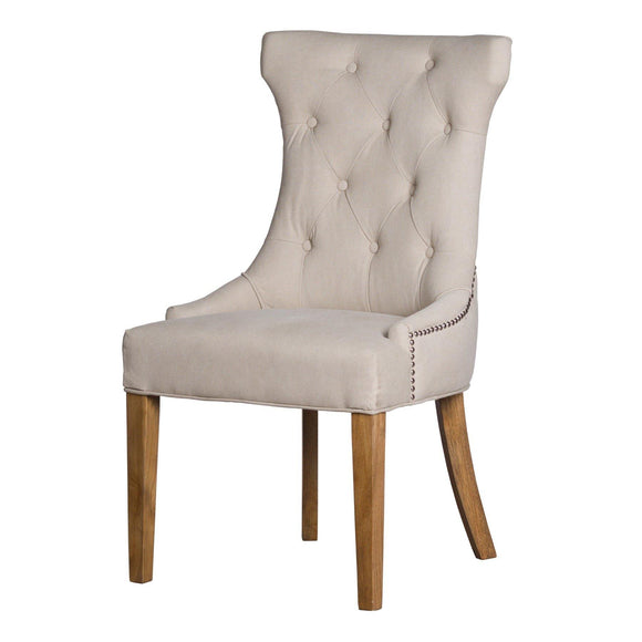 High Wing Ring Backed Dining Chair