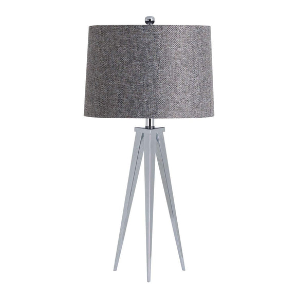 The Genoa Chrome Tripod Table Lamp