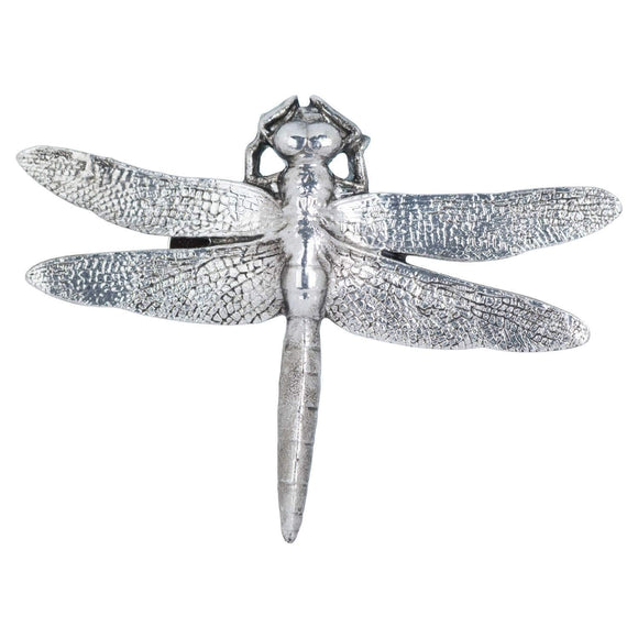 Antique Silver Dragonfly Decorative Clip | L J Home
