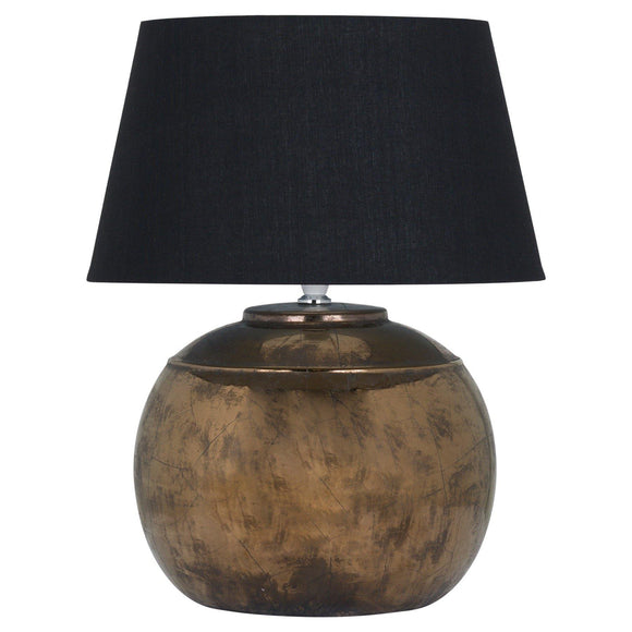 Regola Bronze Metallic Ceramic Table Lamp | L J Home
