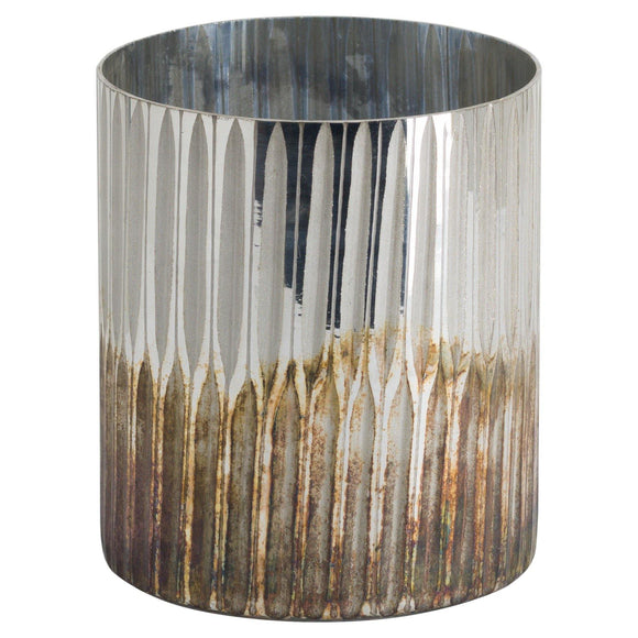 Grey And Bronze Large Ombre Candle Holder | L J Home